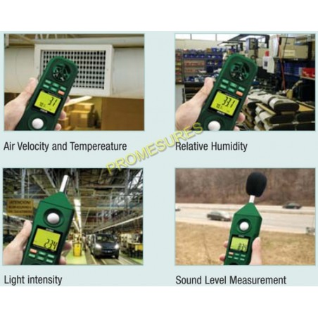 Extech EN300 appareil de mesures d'environnement 5 en 1 Extech EN300