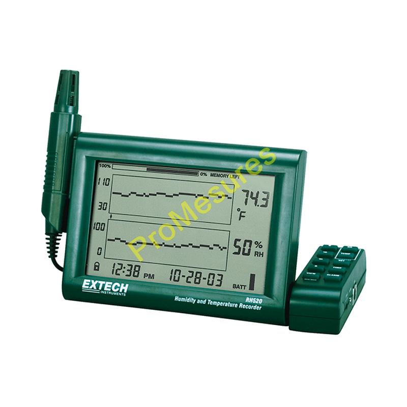 Extech RH520A Indicateur d'humidité et température