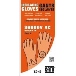 GANTS ISOLANTS CEI CLASSE 4...