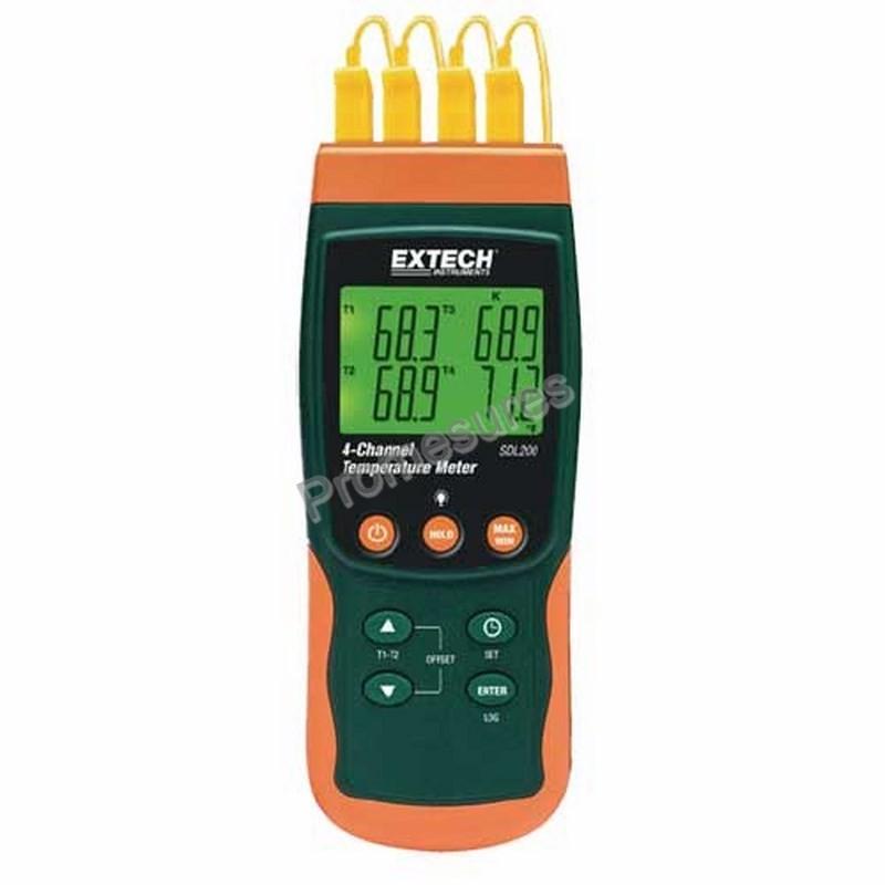 Extech SDL 200 Thermomètre enregistreur 4 voies